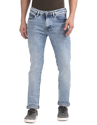 Arrow Sports Skinny Fit Acid Wash Jeans