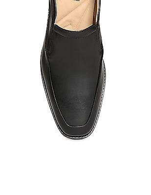 Johnston & Murphy Square Toe Leather Slip On Shoes