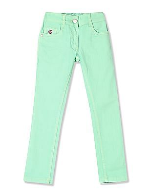 U.S. Polo Assn. Kids Girls Standard Fit Rinsed Jeans