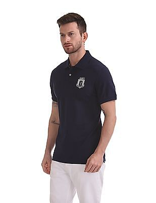 Gant Graphic Embroidered Pique Short Sleeve Rugger Polo