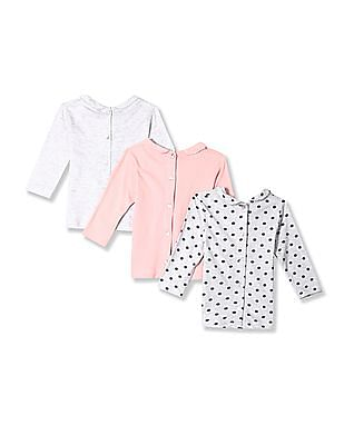 Day 2 Day Assorted Girls Peter Pan Collar Knit Top - Pack Of 3