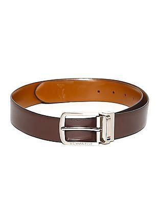 U.S. Polo Assn. Brown Reversible Textured Belt
