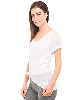 Aeropostale Scoop Neck Viscose Elastane T-Shirt