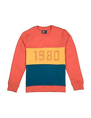 FM Boys Boys Crew Neck Colour Blocked Sweatshirt