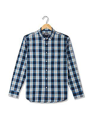 Flying Machine Spread Collar Check Shirt