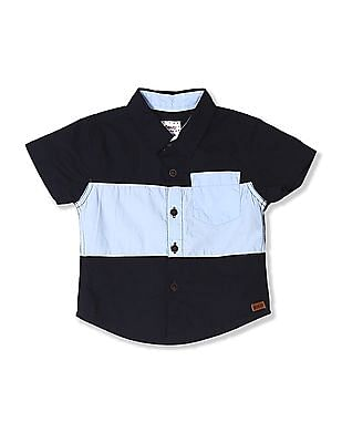 Donuts Boys Short Sleeve Colour Block Shirt