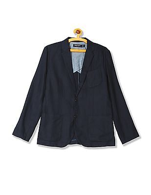 Nautica Single Breasted Linen Blazer