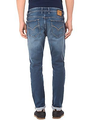 Flying Machine Stone Washed Slim Tapered Jeans