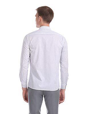 Arrow Mitered Cuff Check Shirt