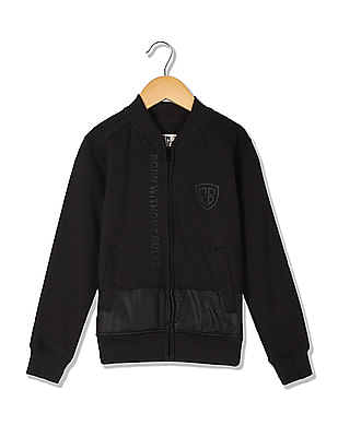 FM Boys Boys Panelled Zip Up Sweatshirt
