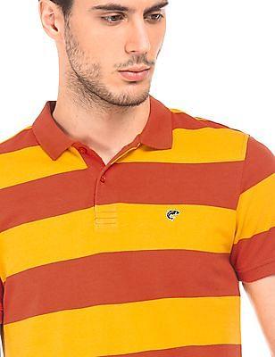 Ruggers Rugby Stripe Pique Polo Shirt