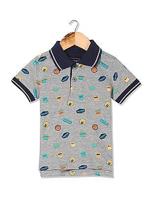 Cherokee Boys Printed Polo Shirt