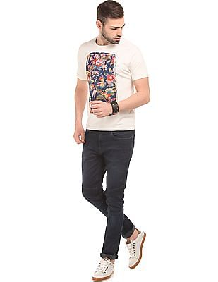 Ed Hardy Printed Applique Cotton T-Shirt