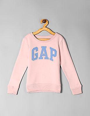 GAP Pink Girls Logo Sweatshirt