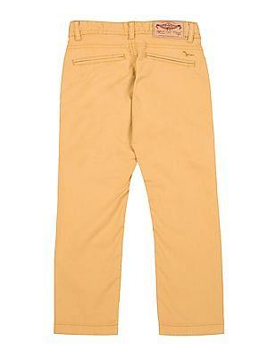 FM Boys Boys Slim Fit Cotton Stretch Trousers