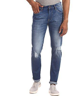 Aeropostale Blue Skinny Fit Stone Wash Jeans
