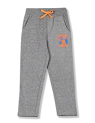 Cherokee Boys Ribbed Waist Heathered Track Pants