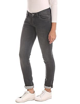 U.S. Polo Assn. Women Skinny Fit Stone Wash Jeans