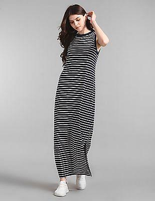 GAP Slub Knit Striped Maxi Dress