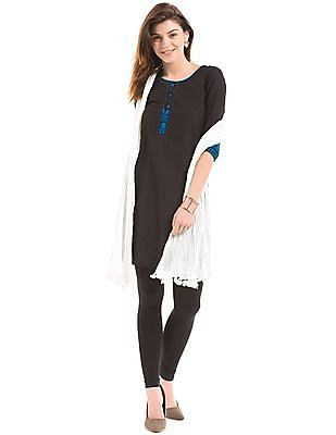 Karigari Off-White Crinkled Cotton Dupatta