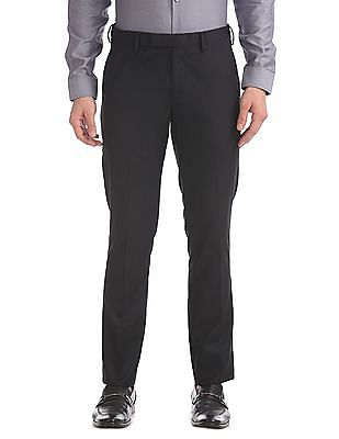 USPA Tailored Slim Fit Solid Trousers