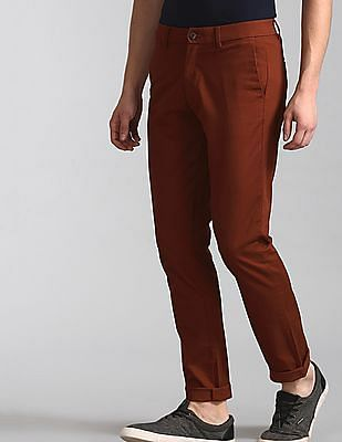 GAP Red Modern Khakis In Slim Fit With GapFlex