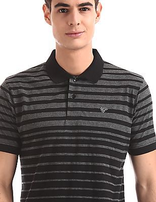 Ruggers Black And Grey Striped Polo Shirt