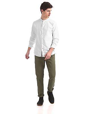 Cherokee Contemporary Regular Fit Mandarin Collar Shirt