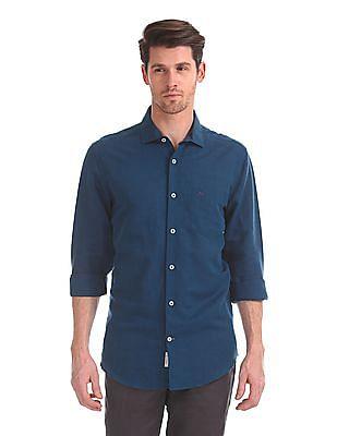 Arvind Slim Fit Solid Shirt