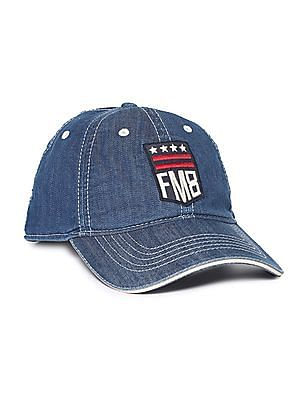 Flying Machine Appliqued Chambray Cap