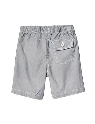 GAP Baby Striped Pull On Shorts