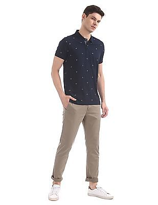 Arrow Sports Regular Fit Printed Polo Tshirt