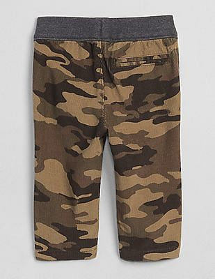 GAP Baby Green Camo Cord Pull-On Pants
