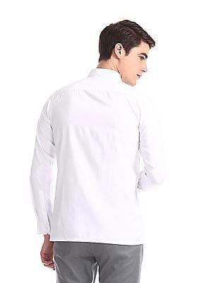 Excalibur White Regular Fit Solid Shirt
