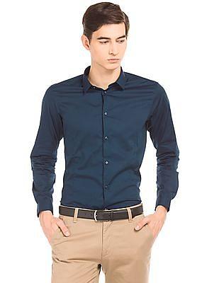 Arrow Newyork Panelled Super Slim Fit Shirt