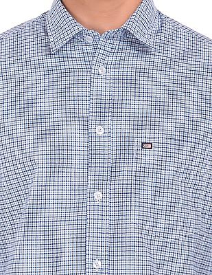 Arrow Sports Check Pattern Slim Fit Shirt