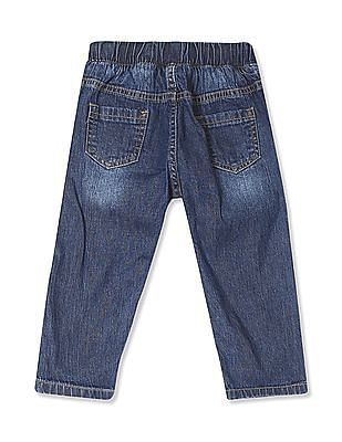 Donuts Boys Stone Wash Appliqued Jeans