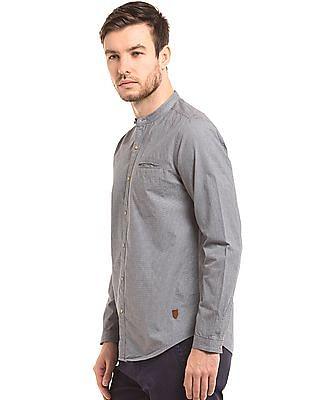 True Blue Slim Fit Puppytooth Shirt