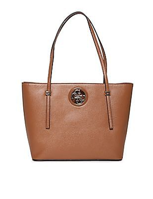 GUESS Brand Logo Solid Hand Bag