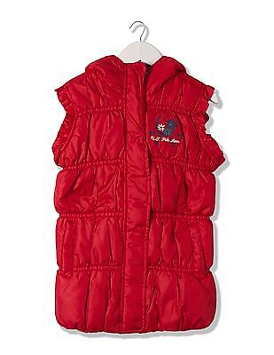 U.S. Polo Assn. Kids Girls Sleeveless Puffer Jacket