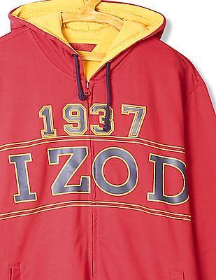 Izod Hooded Printed Sweatshirt