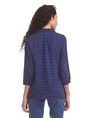 U.S. Polo Assn. Women Printed Viscose Top