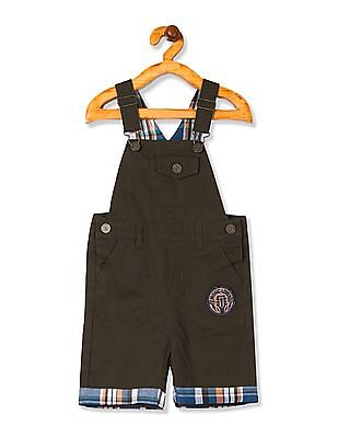 Cherokee Boys Solid Cotton Dungarees