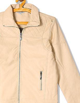 Cherokee Spread Collar Biker Jacket