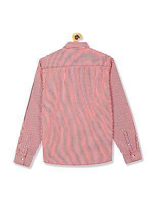 Flying Machine Button Down Collar Gingham Shirt