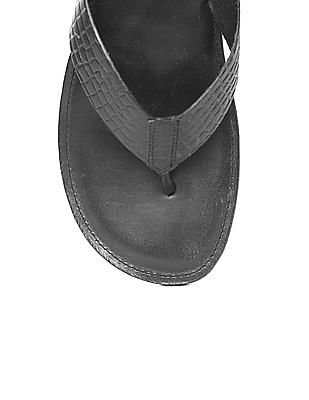Arrow Textured Leather Sandals
