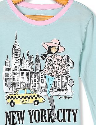 The Children's Place Girls Green New York City Graphic T-Shirt
