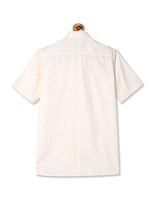 Arrow White Short Sleeve Patterned Shirt