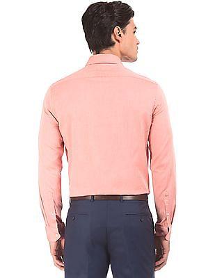 Arrow Patterned Weave Slim Fit Shirt