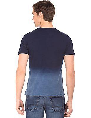 Aeropostale Dip Dyed Patch Pocket T-Shirt